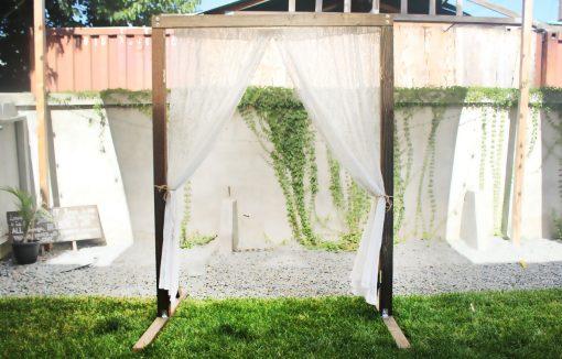 Lace Fabric Wedding Arch