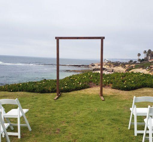 Arch Wedding Rental: Rustic Wood Arch Rental