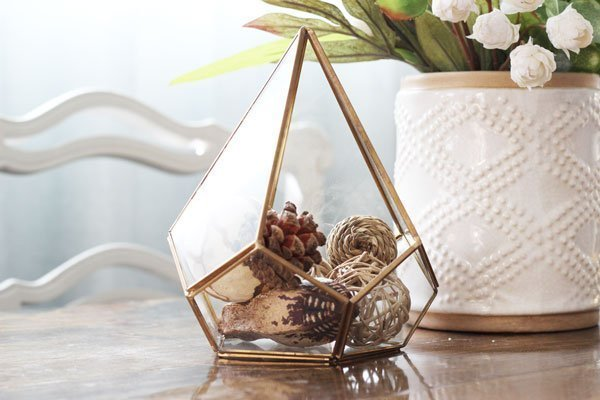 Gold Diamond Geo Terrarium Rental San Diego Event Decor