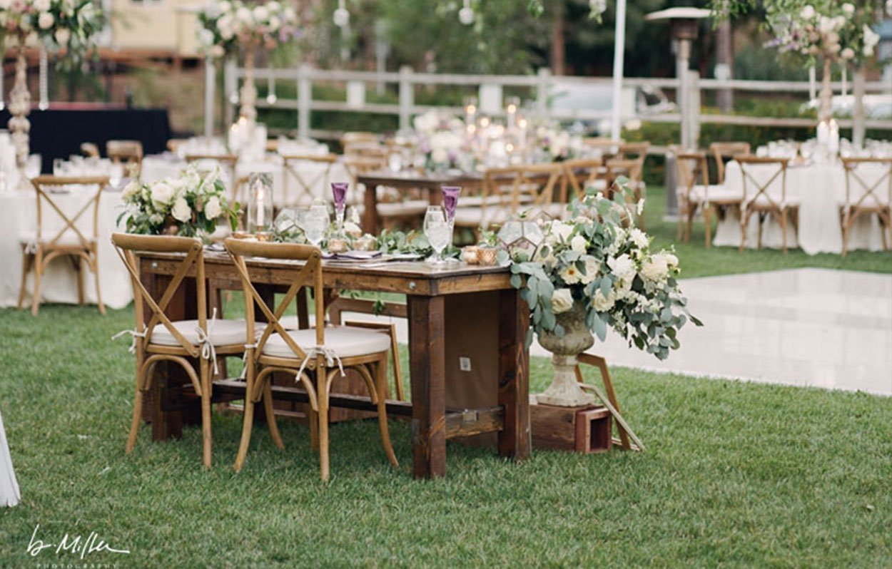 Farm table bench rentals san diego for Table rentals