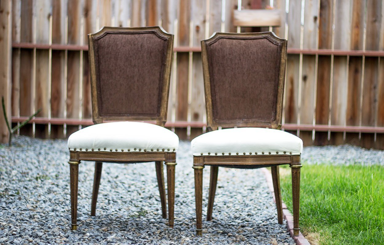 Vintage-Studded-Cream-chair-rental-san-diego