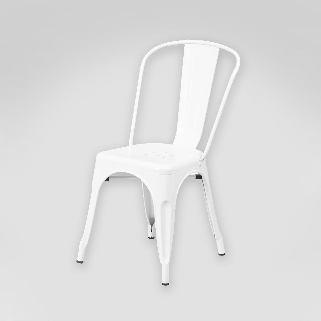 White Bistro Tolix Chair Rental San Diego