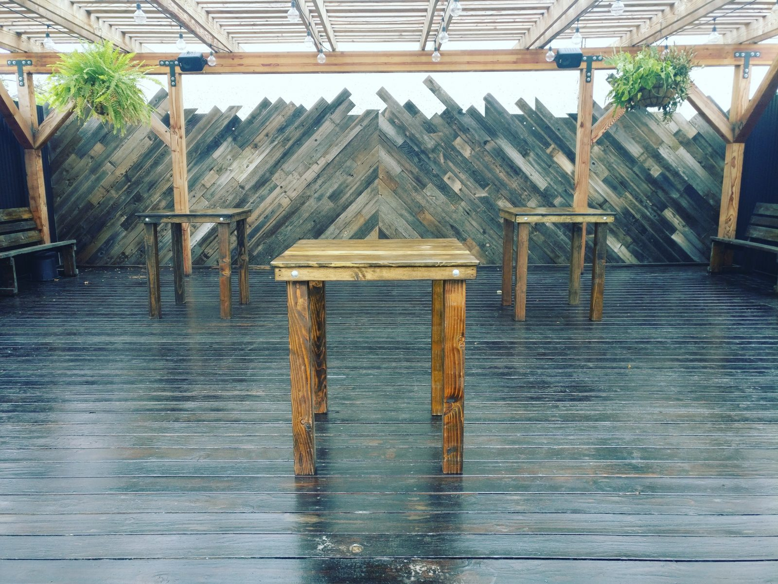San Diego wood Cocktail Table rental