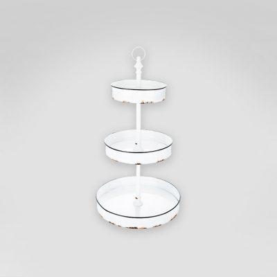 3 Tier white dessert stand