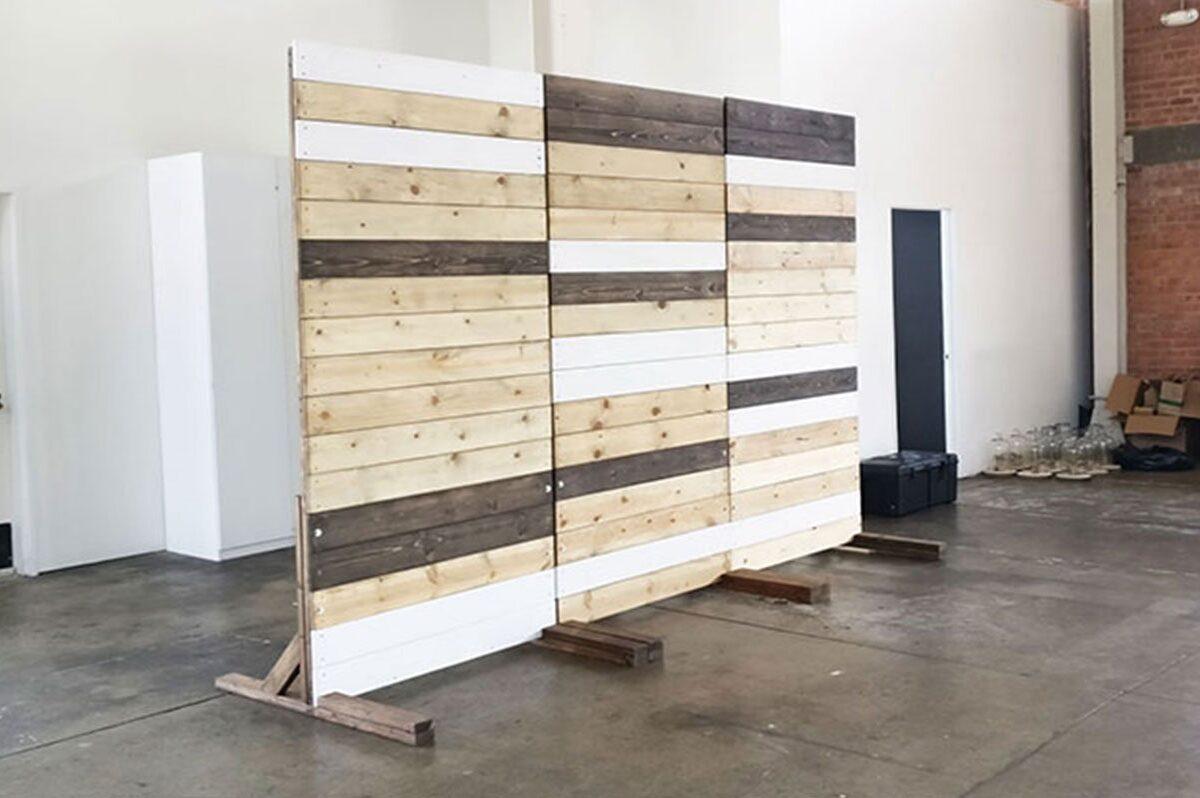Pallet Backdrop Photobooth Backdrop Wood Wall Rental San Diego