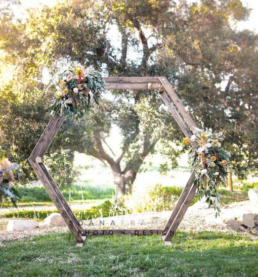 Diy Wedding Arch Ideas Circle: Wood Geometric Ceremony Arch Rental