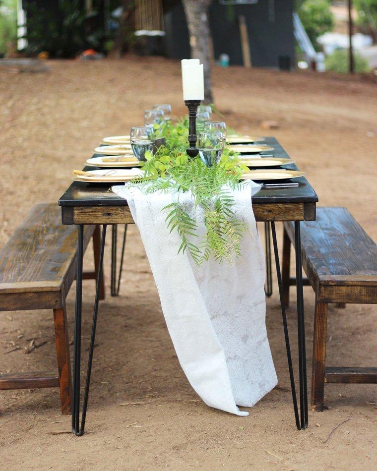 Hairpin Leg Farm Table Rentals San Diego Modern Wood