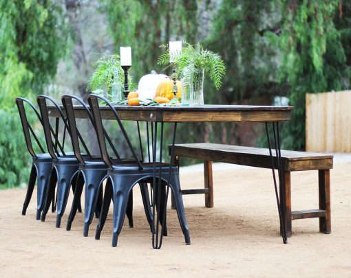 Black Metal Tolix Bistro Style Chair Rental