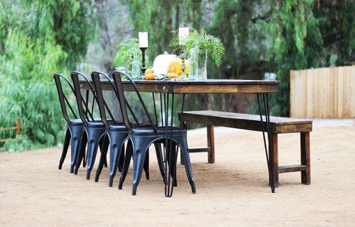 Hairpin Leg Farm Table Rentals