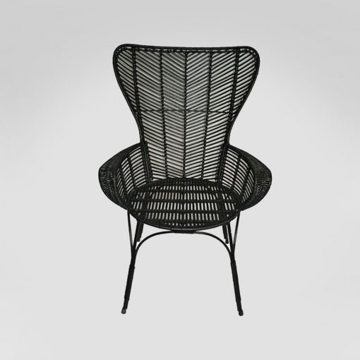Black Rattan chair rental