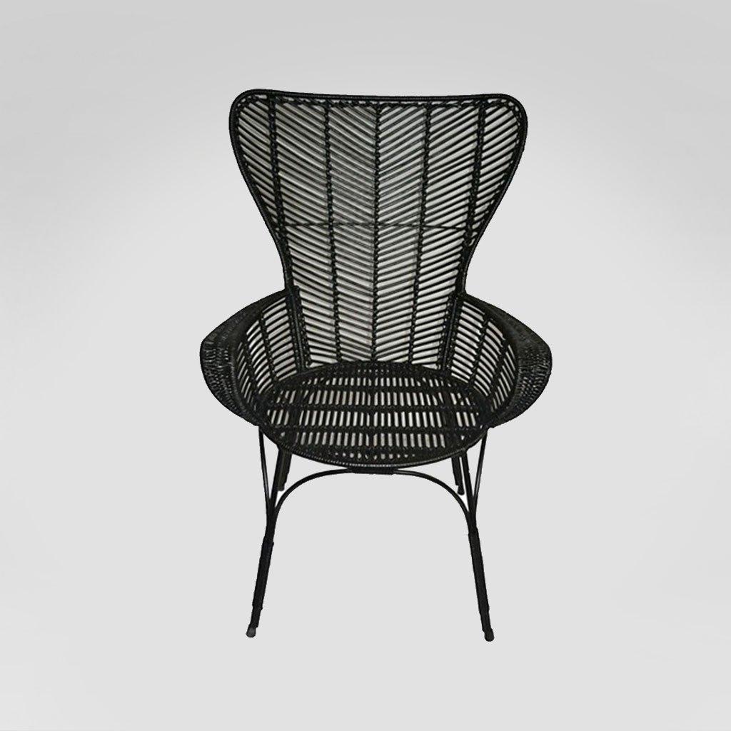 Black Rattan chair rental