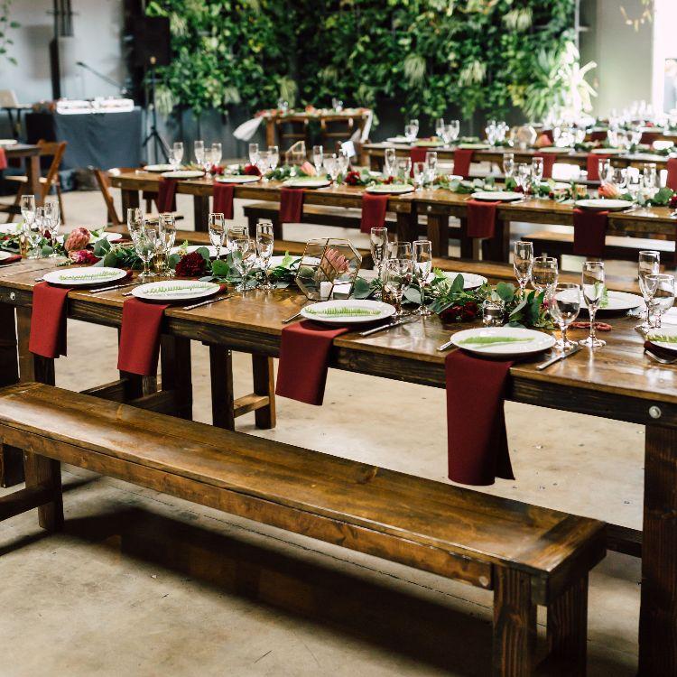 Farm Table u0026 Bench Set Rental & Farm Table u0026 Bench Set Rental | Cedar And Pine Events