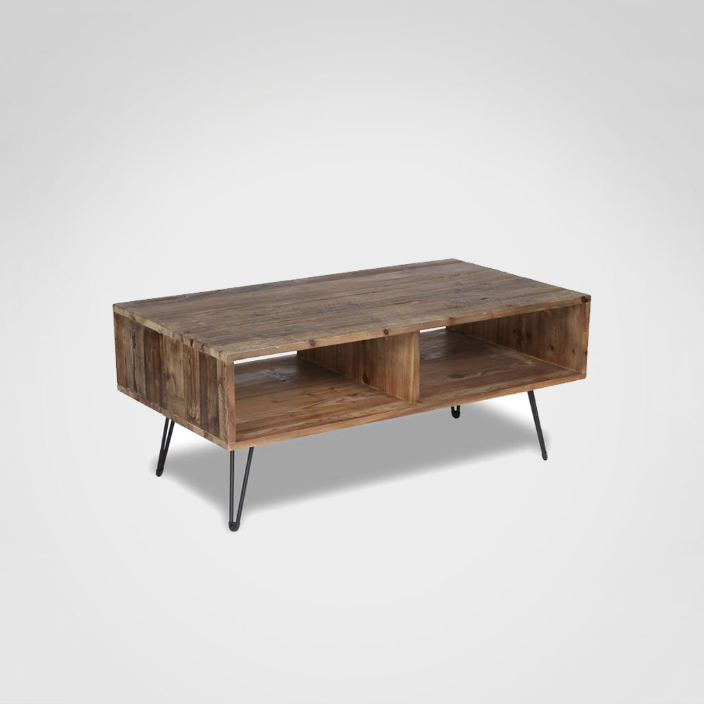 Reclaimed Hairpin Leg Coffee Table Rental