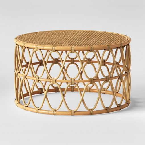 Round Rattan Coffee Table Rental