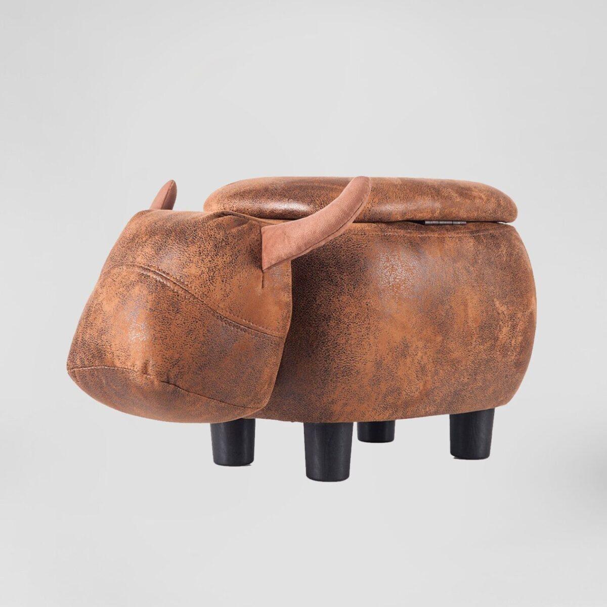 Brown Bull Ottoman Rental San Diego Plush Lounge Rental