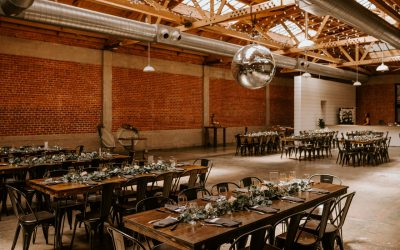 Hairpin Farm Tables & Metal Bistro Chairs at LUCE CIELO